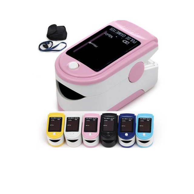 US $13 99 |Mini Portable Yellow Blue Pink Fingertip Pulse Oximeter Readings  for Adult Best Price CMS50DL Pulse Oximeter-in Blood Pressure from Beauty