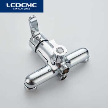 LEDEME Bathtub Faucets Set Hand Shower Head Bathroom Single Handle Chrome Plated Shower Bathtub Faucet Bath Faucet L2203 L2203W
