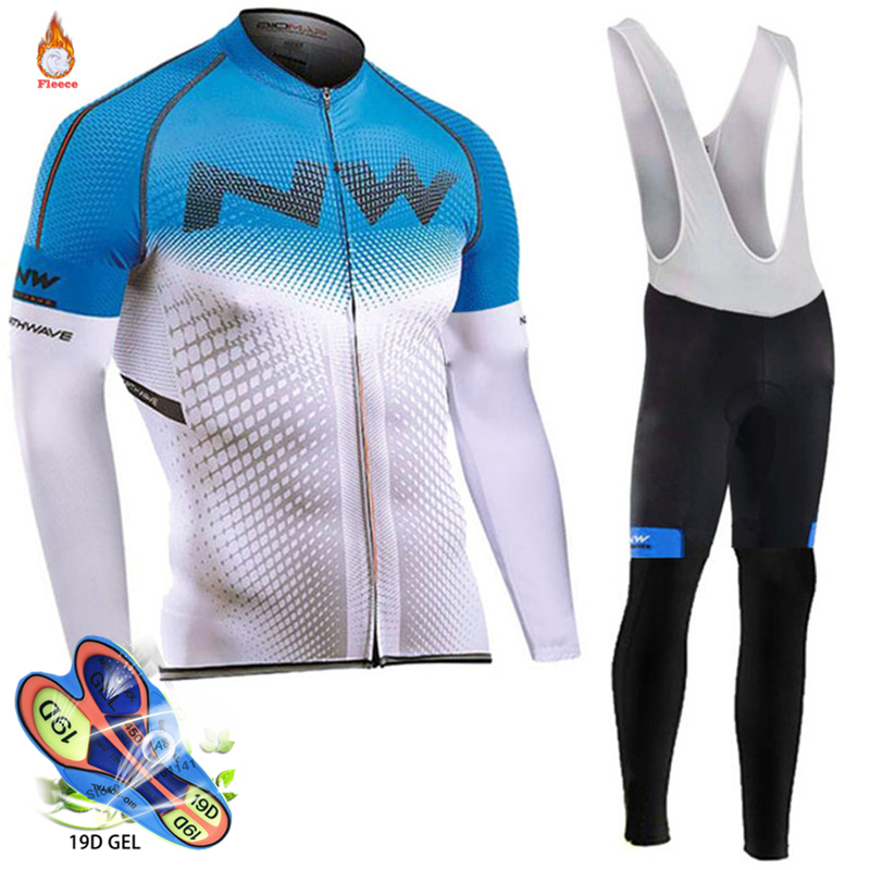 Northwave 2019 NW cyclisme équipe polaire hiver vêtements des hommes à manches longues Jersey ensemble activités de plein air vélo vtt vélo ensemble