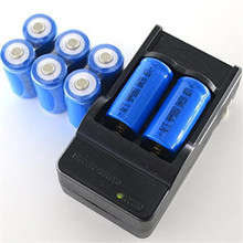 CD 8x 2000mAh 16340 Bicycle Lights Rechargeable Li-ion Battery For LED Flashlight+CR123A Charger