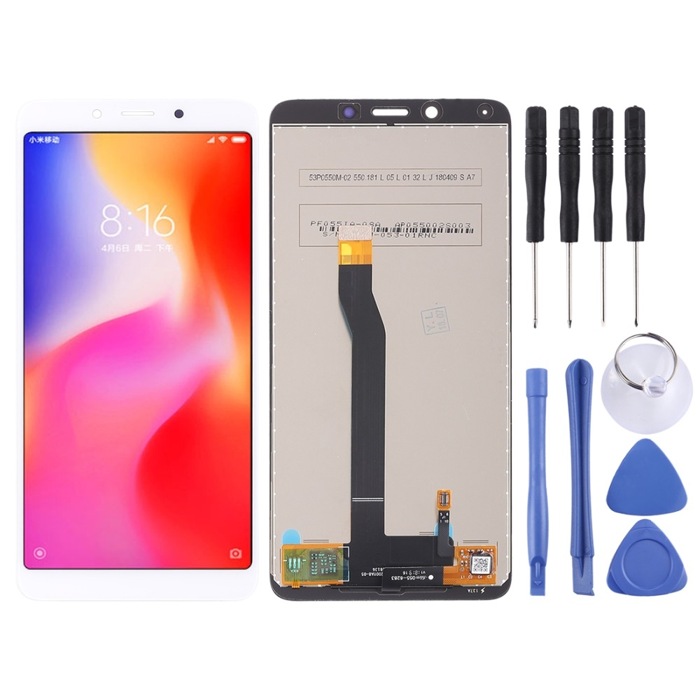 LCD Screen and Digitizer Full Assembly for Xiaomi Redmi 6 / 6A(White)LCD Screen and Digitizer Full Assembly for Xiaomi Redmi 6 / 6A(White)