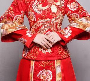 Image 3 - 赤プラスサイズ 4XL 5XL 6XL花嫁のドレスのウェディングドレスレトロドレス中国チャイナドレス花嫁のトーストの服ロングセクション