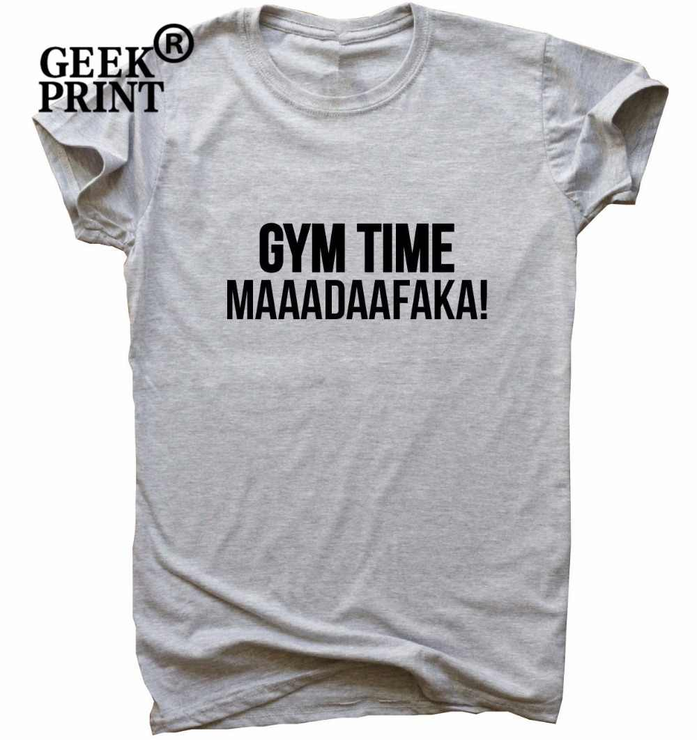 Gym Time Maaadaafaka funny gym T-shirt womens training humour workout top Dropshipping