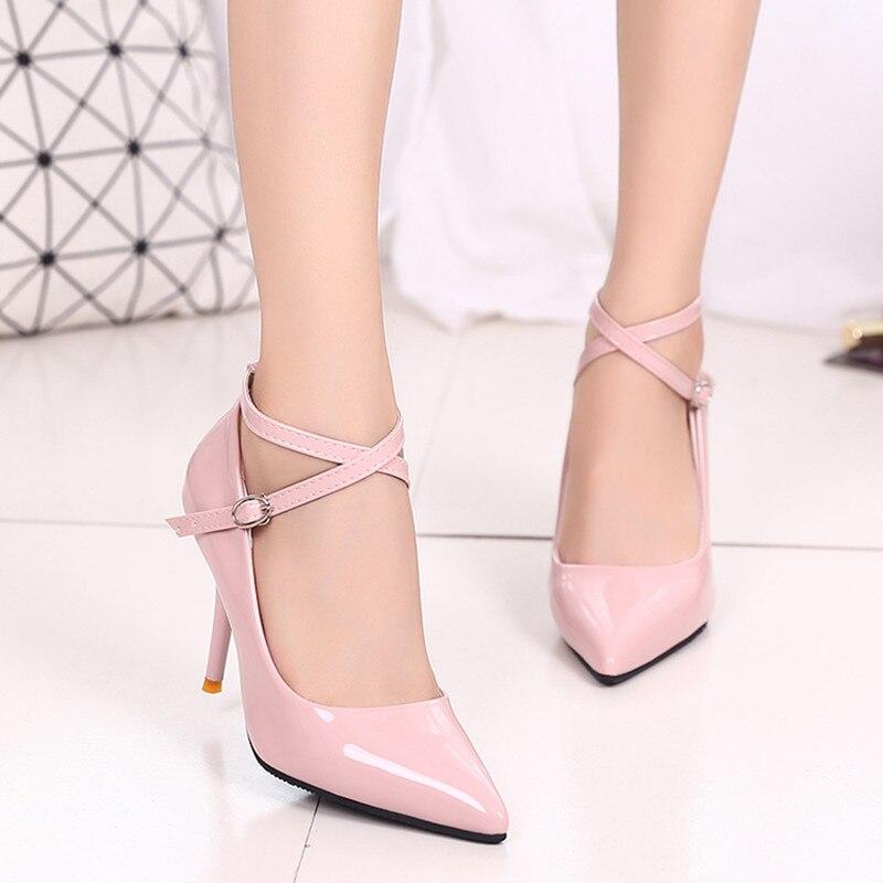 Circular cabeza luz oro brillante impermeable Ultra alto talón zapatos de mujer, rosa, 39