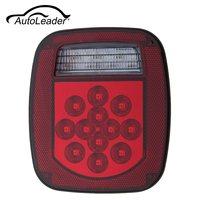 AutoLeader Red White 39 LED Zatrzymaj Włącz Tail 12 V ABS Odwrotnej licencja Światło Dla Ciężarówka wywrotka Łodzi/Jeep/JK CJ YJ TJ