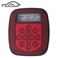 AutoLeader Red White 39 LED Stop Turn Tail 12V ABS Reverse License Light For Truck Trailer