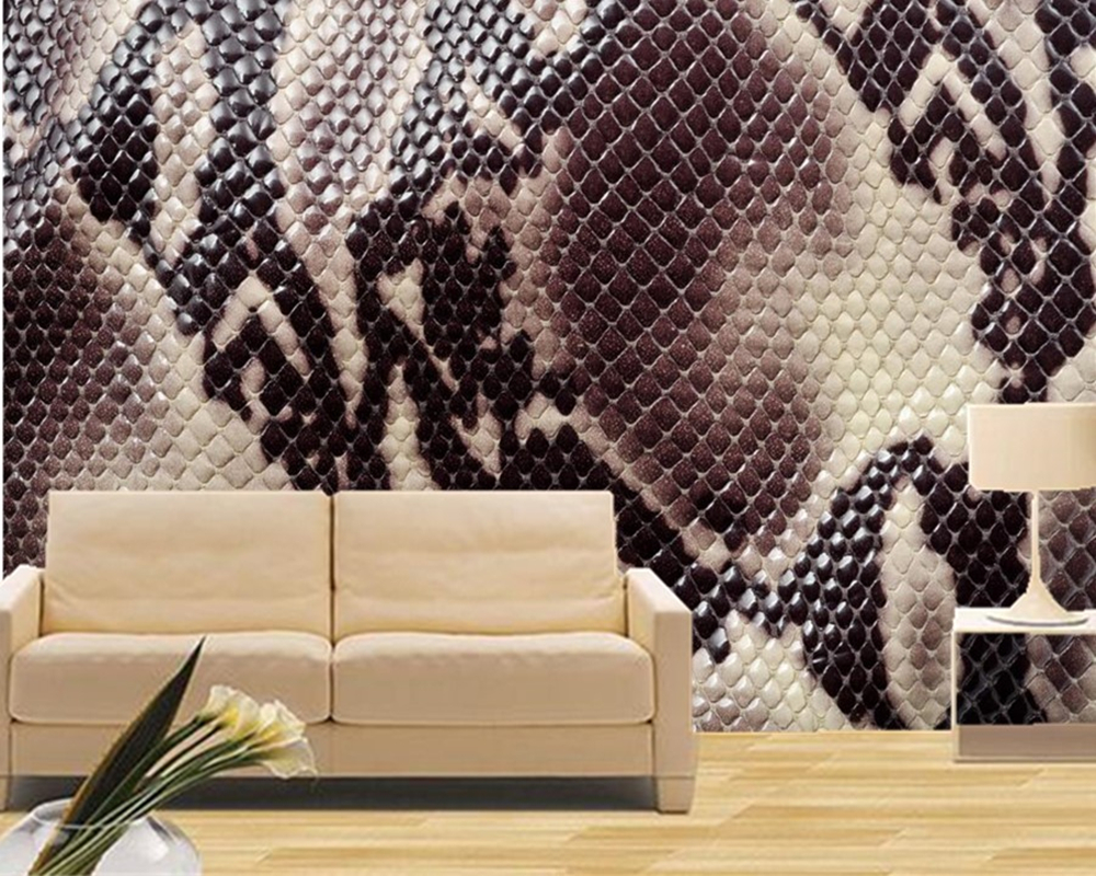 Aliexpress Com Buy Large Custom Mural Wallpapers Living: Custom Large Murals,Texture Snakes Wallpapers,ktv Bar