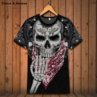 European style locomotive heavy metal rock skulls printing short sleeve t shirt Summer 2018 quality soft comfortable t shirt men