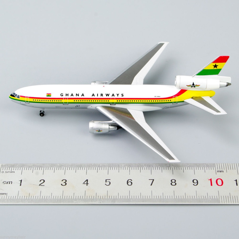 1/500 Inflight500 9G-ANA GHANA Airways Douglas DC-10 Airplane Model Collection 500