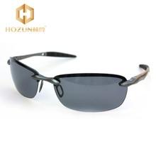 HOZUN Brand Designer Men Sunglasses Vogue Outdoor Fishing Eye-wear Frameless Polarized Lenses Alloy Grey Sunglasses LM028 Z30
