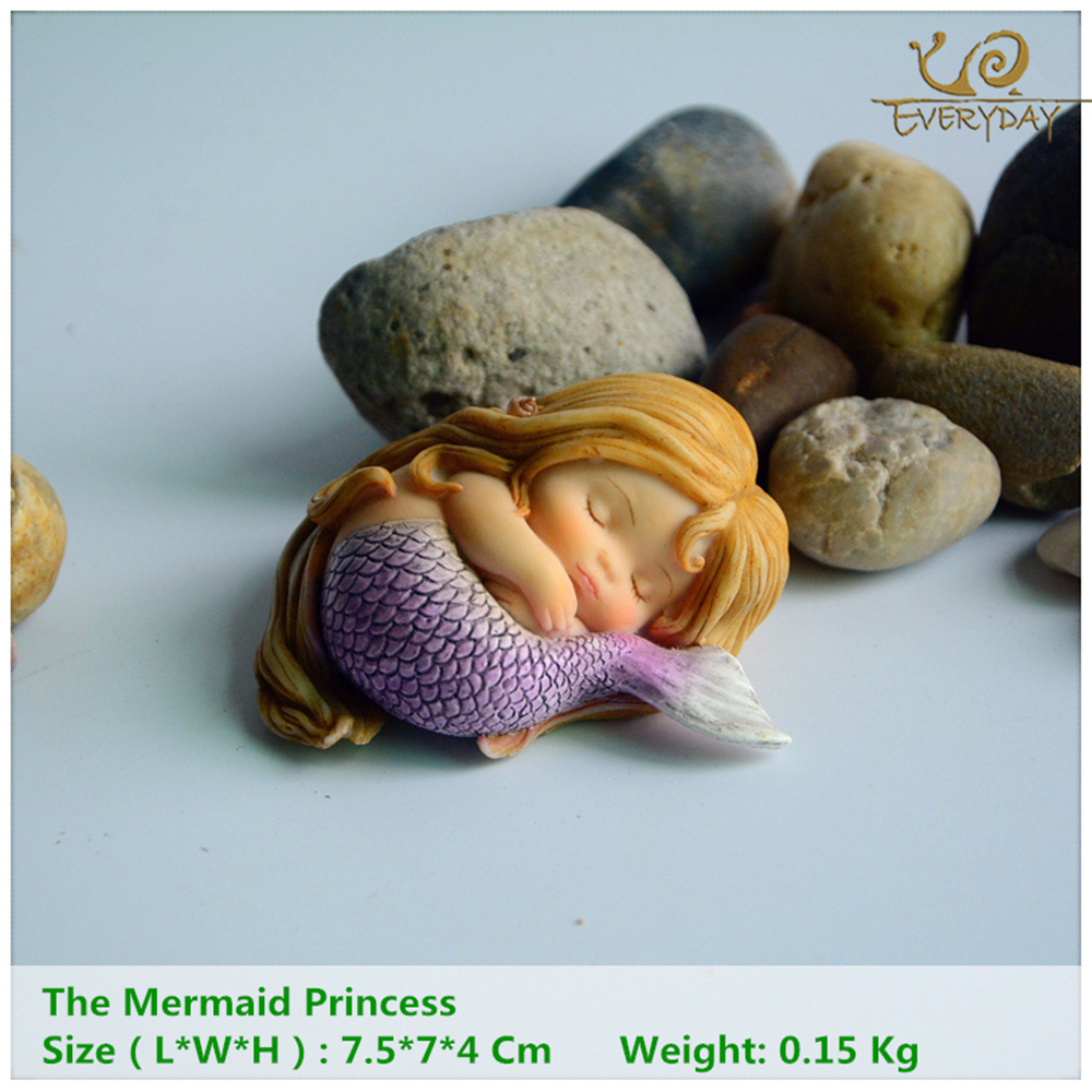 Penghiasan Setiap Hari Taman Fantasy Figurine Art Works Home Decor Gifts Resin Miniature Mermaid Princess Patung Fairy