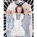 105*75cm Knitted Kids Blanket handmade woolen blended soft Baby blanket newborn cartoon rabbit baby swaddle sofa throw blanket