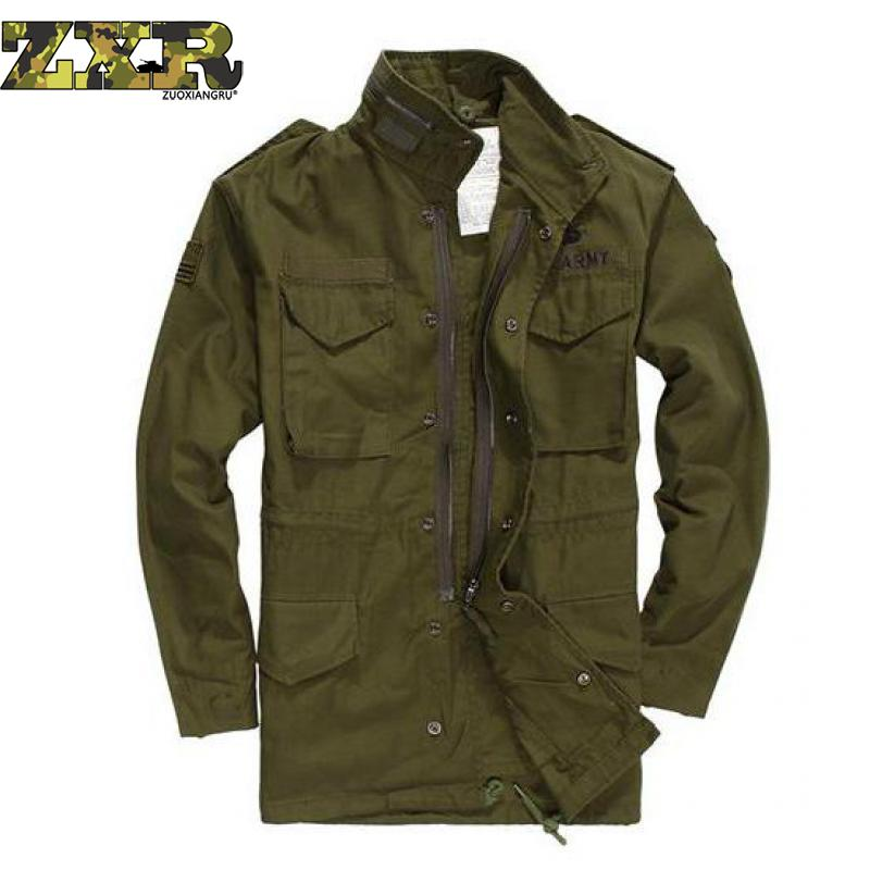 Military Army Fans Jacket Airborne Division Tactics Charge Men Jacket Winter Coat Long Windbreaker Green Tactical Jacket