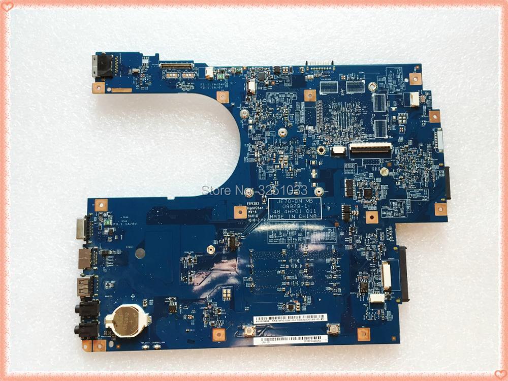 48.4HP01.011 pour Acer Aspire 7551 7551G carte mère d'ordinateur portable JE70-DN MB 09929-1 MBBKM01001 MB. BKM01.001 NV73A DDR3 MB. PT901.001 - 2