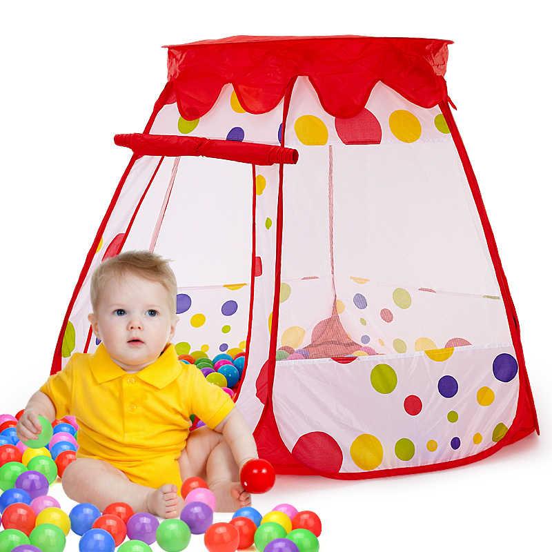 เด็กเต็นท์หกเหลี่ยมฝาครอบบอลสระว่ายน้ำเด็กแบบพกพาพับ indoor และ outdoor play house ของเล่นเด็ก