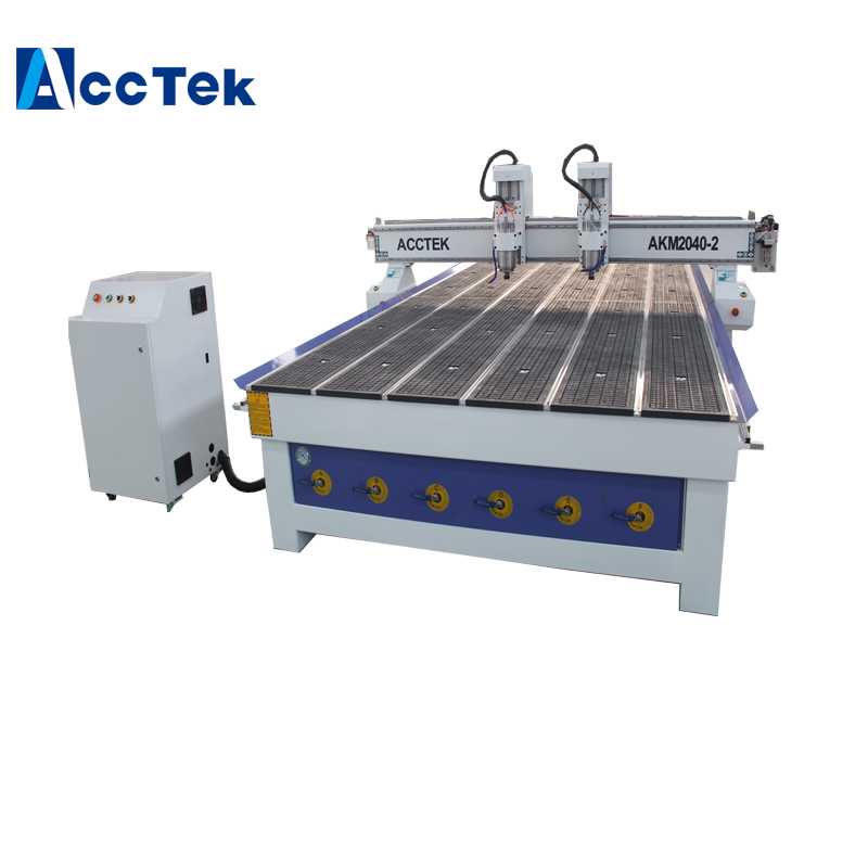 Double Heads 3 Axis 3d Electric Wood Carving Tools/woodworking Machine/wood Cnc Router 2040 Big Size
