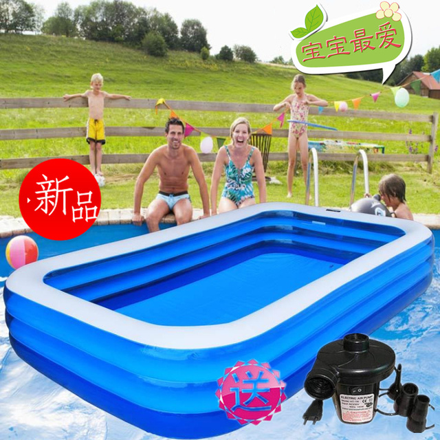 adult swimming pool beightening thickening rectangle fishing large child inflatable