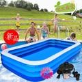 Adultos piscina beightening engrosamiento rectángulo piscina inflable pesca piscina grande niño