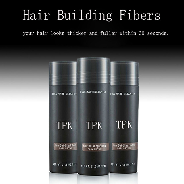 3 pcs hair building fiber TPK 27.5 g 9 colors full hair instantly hair fiber bulk price 3