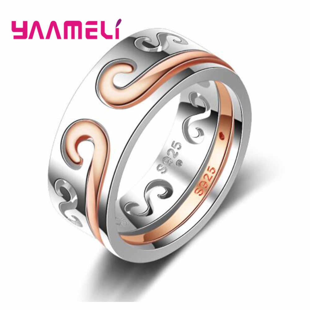 Luxury Couple Jewelry 925 sterling Silver Ring For Her Best Surprise Gift Simple Top Quality and Precious Engagement