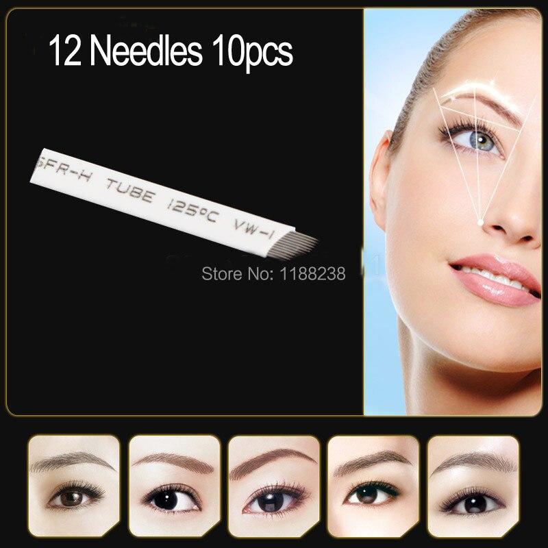 ᗔhaute qualité 10 pcs/lot maquillage permanent lame manuel sourcils