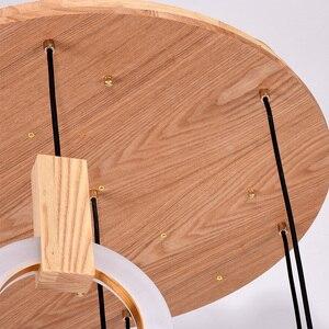 Image 5 - Candelabros LED modernos con caída en escalera, iluminación nórdica para sala de estar, lámparas de techo colgante, anillos de acrílico para dormitorio, accesorios, luces colgantes de madera
