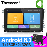 Android 2+32G 2din Android Car Radio Player wifi GPS Navigation for VW Volkswagen SKODA GOLF 5 6 POLO PASSAT B5 B6 JETTA TIGUAN