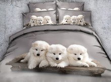 Dog bed set 3D Bedding sets Luxury duvet cover bed sheet Cotton Super King Queen size bed in a bag linen full twin double 4PCS 100%cotton adult kids bedding set fashion casual bedding sets bed linen quilt duvet cover bed sheet for king queen twin bed