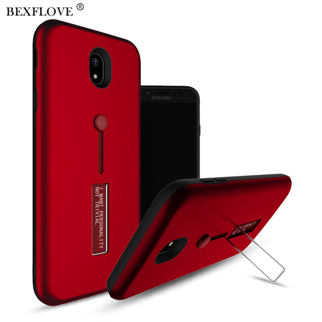 the latest c10b9 1fa08 US $2.59 35% OFF|Case For Samsung Galaxy J3 J4 J6 J7 2018 Case For Samsung  J7 Pro Case Invisible Bracket Ring Cover For Samsung J7 J5 J3 2017 EU -in  ...