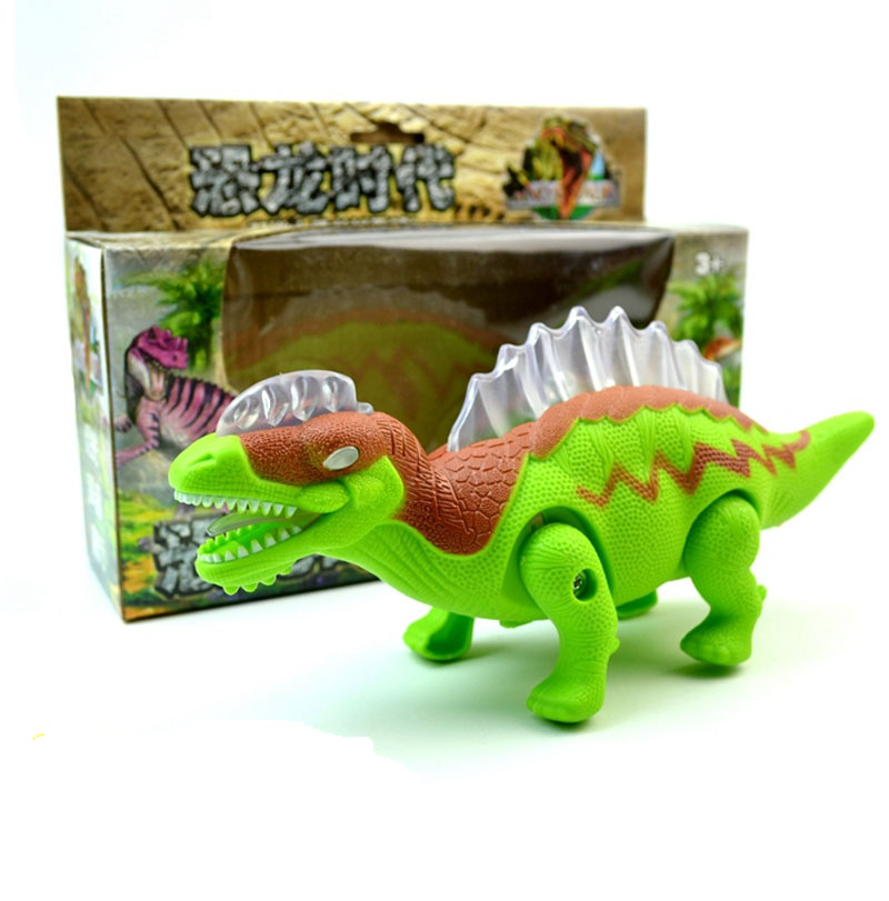 Electric Walking Dinosaur Toys Glowing Jurassic Dinosaurs with Sound Animals Model Toys for Kids Boys Children Interactive Toys
