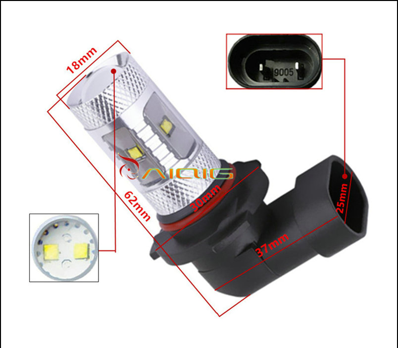 30W LED Lights Xenon White Bulbs H1 H3 H4 H7 H11 H16 3156 3157 7440 - Car Lights - Photo 3
