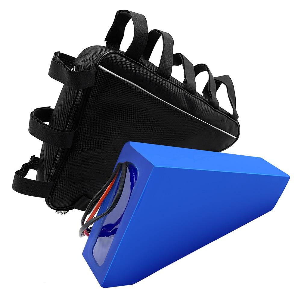 Armazém de Espanha Bateria de Lítio com 54.6 Carregador + Bolsa para 1000 Venda Quente! E-bike Impermeável Pvc Triângulo 2a Motor 48 v 20ah