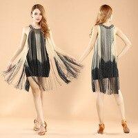 2017 Ballroom Dress Latin Dance Dress For Limited New Sale Women Acrylic Fringe Womens Ballroom Tango Rumba Cha Samba