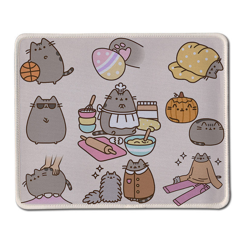Custom Funny Animals Cute Mouse Pad Stitched Edge Rubber Anti Slip Mousepad As Gift Gaming Computer