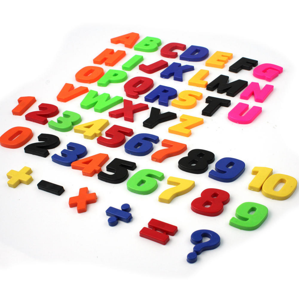 52pcsset funny plastic magnetic teaching fridge magnets letter alphabet numbers baby child educational