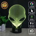 HUI YUAN Brand USB 3D Lamp Visual illusion Novelty Night Light Martian man Holiday Lights Glowing Children Christmas Gift