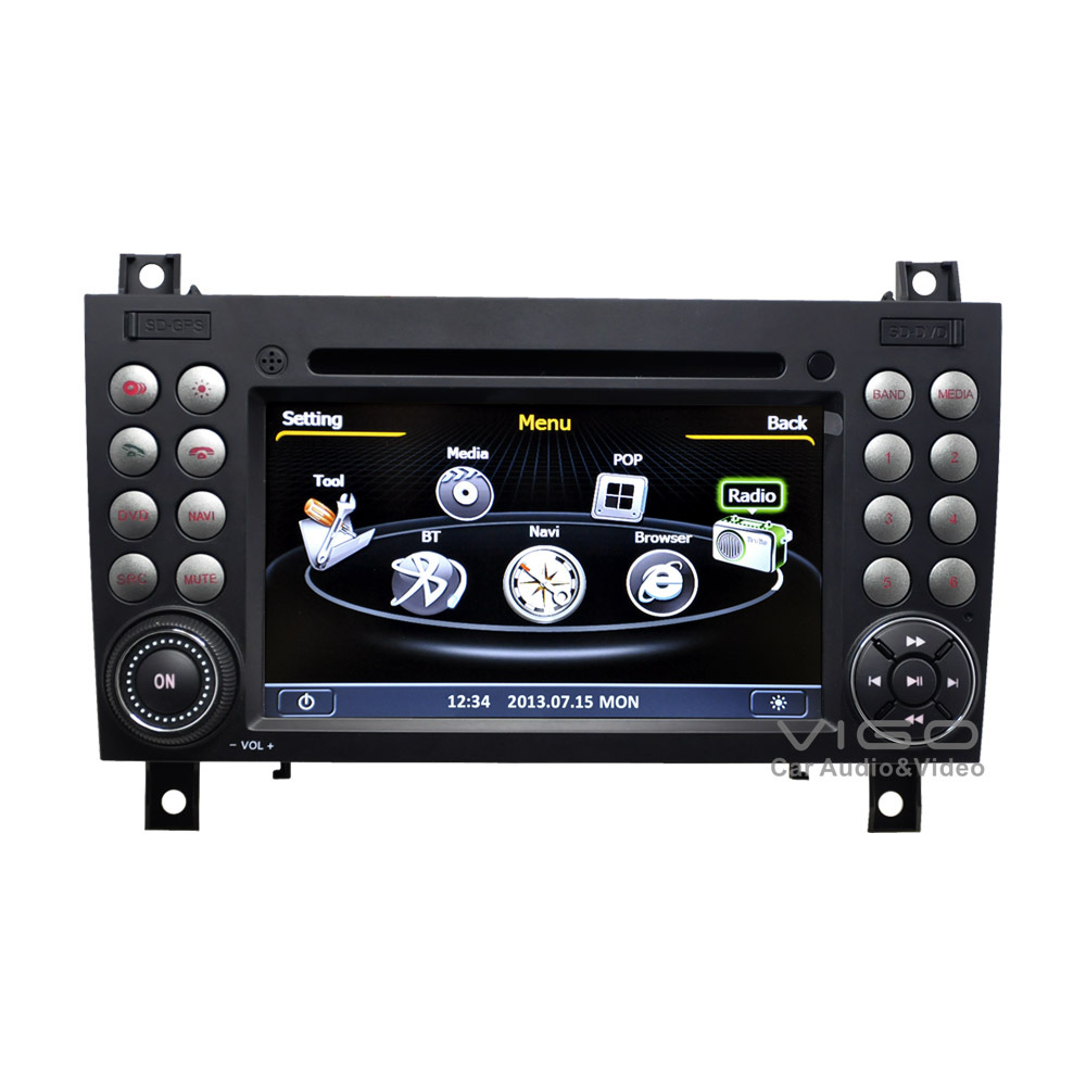 car stereo gps navigation for mercedes benz slk200 slk280. Black Bedroom Furniture Sets. Home Design Ideas