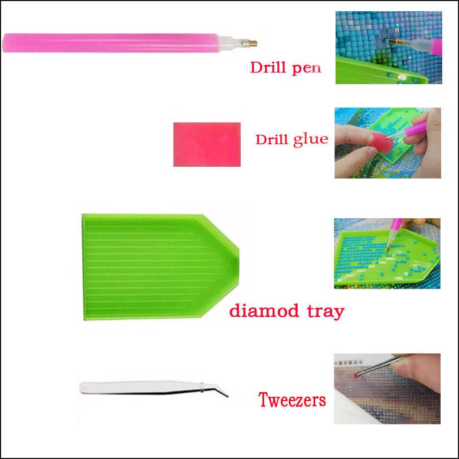 DIY Diamond Lukisan Ikan Koi 3D Diamond Bordir Yin dan Yang Cross Stitch Persegi Bulat Mosaik Dekorasi Rhinestone Ikon