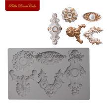 Рельефная силиконовая форма в европейском стиле для цветов шоколадной