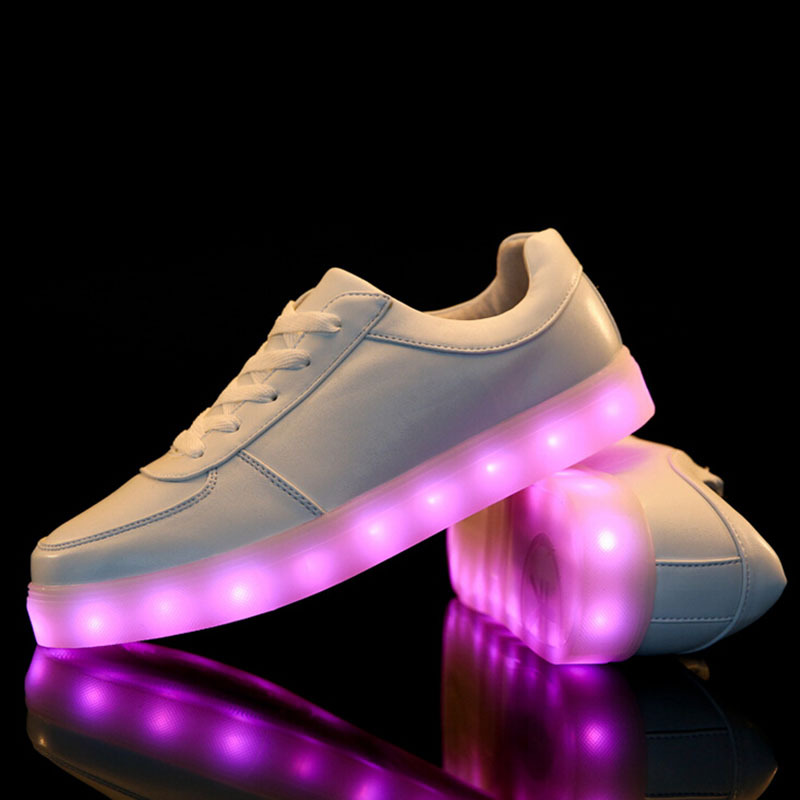 separation shoes c1614 45277 Hot 2015 Mens Womens Sneakers Luminous USB Charging Colorful ...