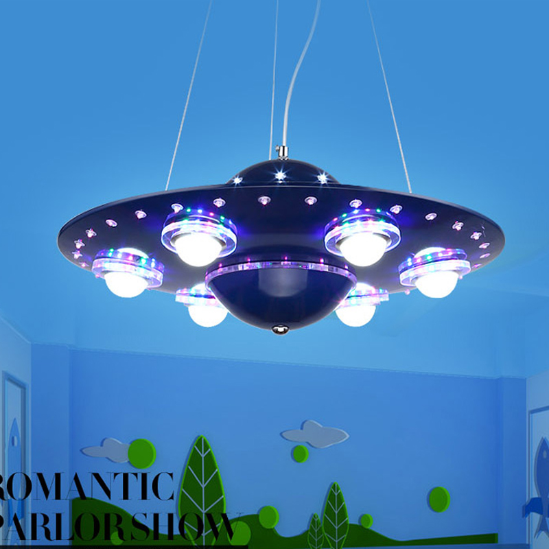 Ufo Kinderkamer Hanger Lightslampadario Bambini Abajur Infantil De Quarto Kroonluchter Voor Kinderen Babykamer Deco Enfant Chambre - 2