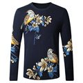 2017 spring new style Men's fashion leisure Printing design sweater Men of high quality long sleeve sweaters Free shipping