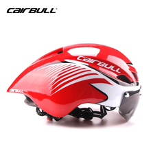 CAIRBULL Goggles Cycling Helmet Bicycle Helmet Ultralight In mold Casco Ciclismo With Goggles TT Road Bike