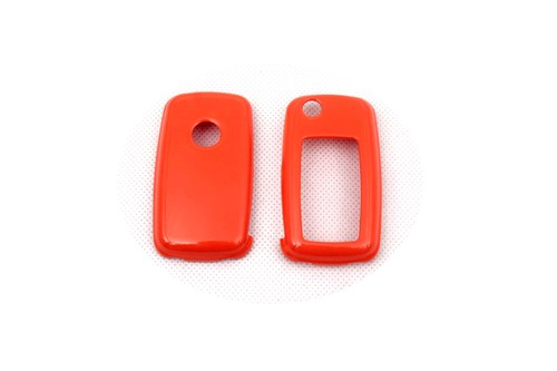 Bright Remote Flip Key Cover Case Skin Shell Cap Fob Protection Gloss Orange For Vw Mk6 Seat Skoda