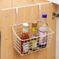 Hanging Cupboard Door Storage Box Kitchen Sink Sponge Drain Basket Holder Desk Laundry Basket Bath Cosmetic Storage Organizer