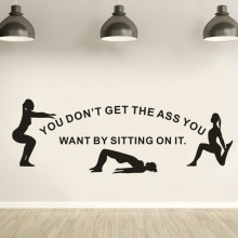 Gym Fitness Wall Sticker Women Nice Ass Quote Decals Home Decoration Removable Art Murals Club DecorAY1885