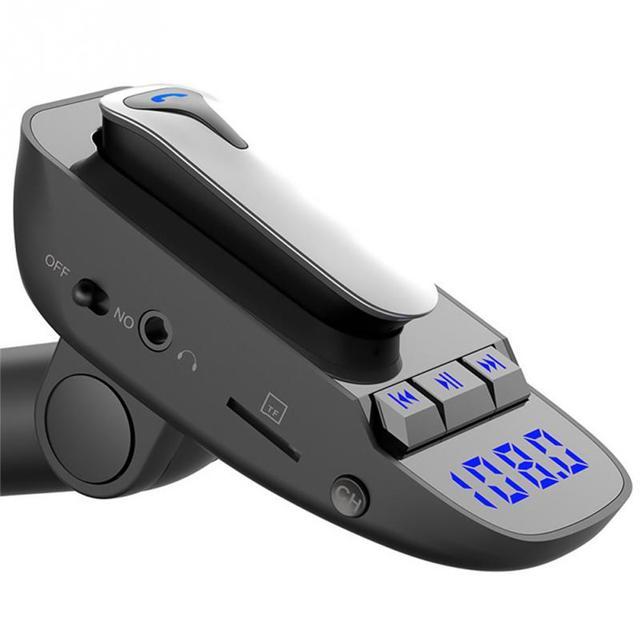 ER9 自動オン/オフ車ハンズフリー MP3 充電機能黒アダプタワイヤレス送信機の bluetooth 4.2 ヘッドセット #2