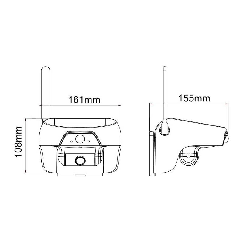 Cámara PIR WiFi móvil 720P solar con LED infrarrojo para detección - Cámara y foto - foto 5