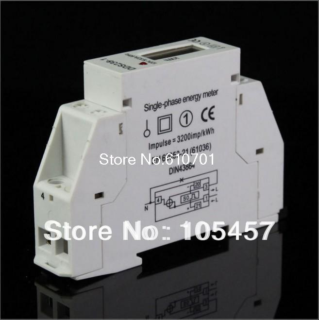Single Phase LCD 5(32A) 220VAC 60Hz DIN-rail Kilowatt Hour kwh Energy Meter серебряное колье ювелирное изделие np964