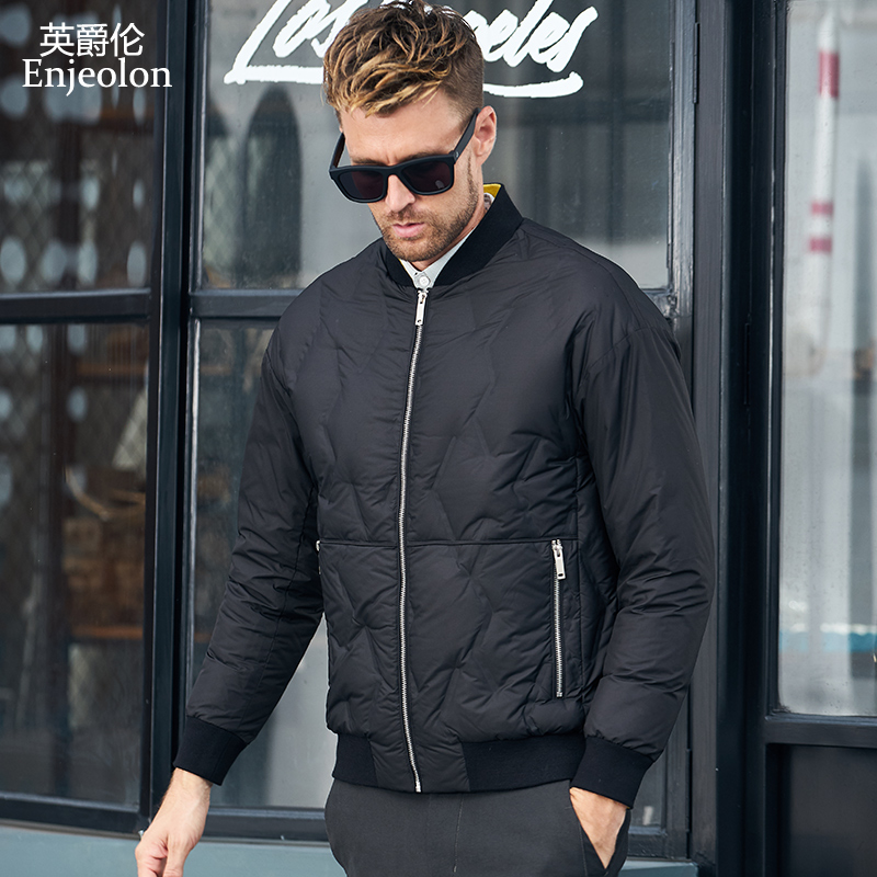 Enjeolon brand winter thick winter   down   jacket men light parka   coat   male warm parka   coat   3XL   down   parka YR0132